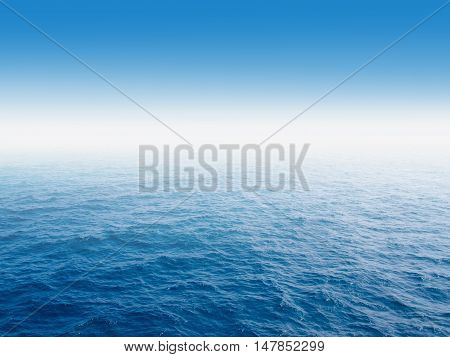 Blue sea and blue sky background. Blue sea and blue sky.