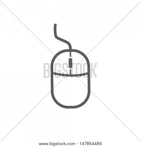 Computer mouse icon illustration isolated on a white background