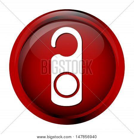 Door tag Lock Hanger Hotel sign icon symbol button vector illustration