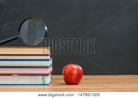 Magnifying Glass In Very Important To See The Textbook Clear