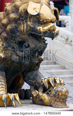 Sculpture in the Forbidden City, Beijing, China