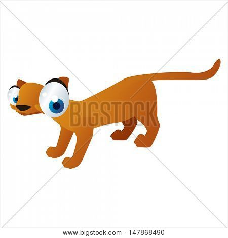 vector funny animal cute character illustration. Foss