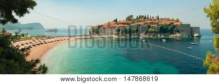 Sveti Stefan resort island in Montenegro.
