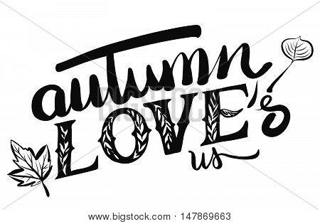 Autumn Loves Us Typo Headline
