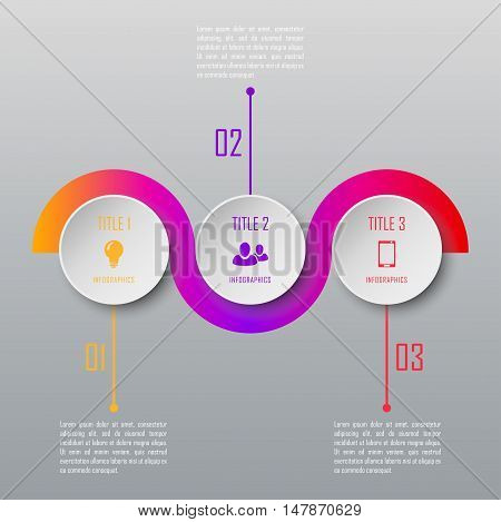 Modern design infographic timeline template. Infographic can be used for chart, diagram, web design, workflow layout