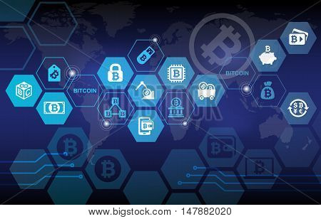 Bitcoin Electronic Digital Crypto Currency Concept Background