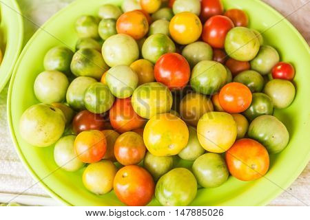 Cherry tomato for sale at local Thai market