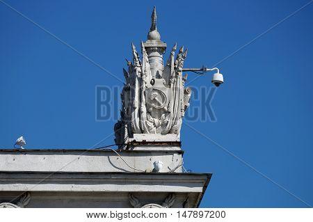 Rotunda element on the embankment of the hero town of Volgograd