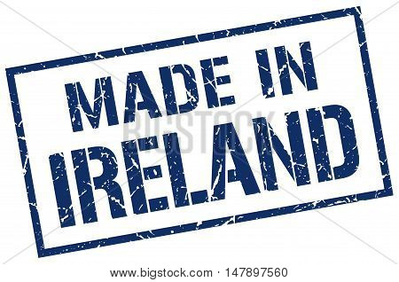 made in Ireland. Stamp. Square grunge sign