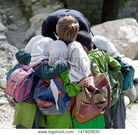 Children In Turtuk Village, Ladakh, India