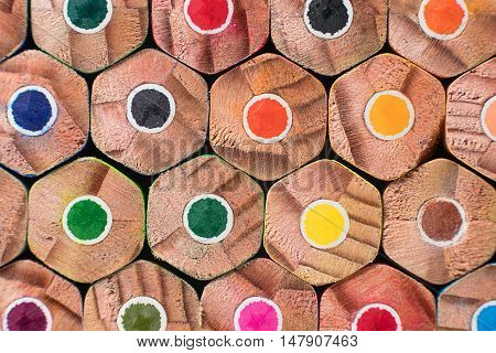 Color pencils. Colored pencils background. Colored pencil