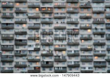 Blurred Image Of A Block Of Flats