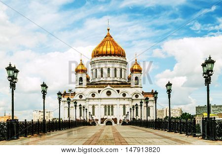 Russian Orthodox Cathedral of Christ the Saviour. Russia, Moscow