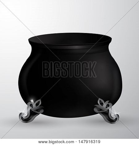 Cartoon Halloween witchs cauldron isolated on white could be used for Halloween design