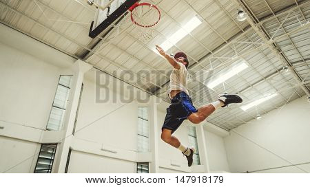 Basketball Bounce Jump Exercise Player Concept