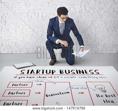 Startup Business Plan Brainstorming Graphic Concept