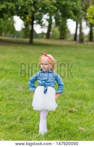 Portrait Of A Cute Little Pin-up Girl