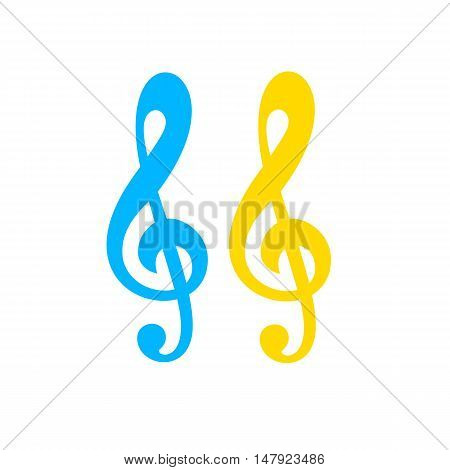 Illustration of clef isolated on white background VECTOR International Music Day