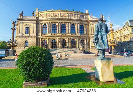 Prague, Czech Republic - September 19, 2011: The Building Of Rudolfiunum Concert Halls On Jan Palach