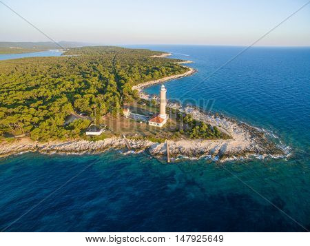 Lighthouse  in Veli Rat in Croatia