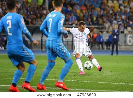 Uefa Champions League Game Fc Dynamo Kyiv Vs Napoli