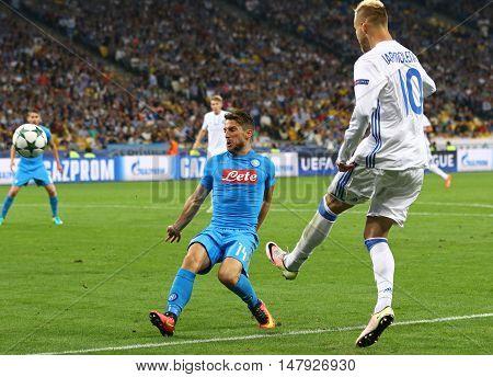 Uefa Champions League Game Fc Dynamo Kyiv Vs Napoli