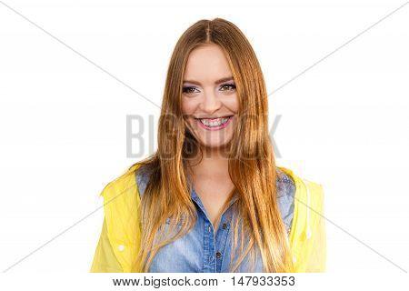 Woman Wearing Rainproof Coat