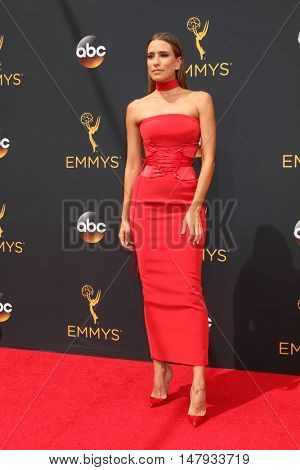 LOS ANGELES - SEP 18:  Renee Bargh at the 2016 Primetime Emmy Awards - Arrivals at the Microsoft Theater on September 18, 2016 in Los Angeles, CA
