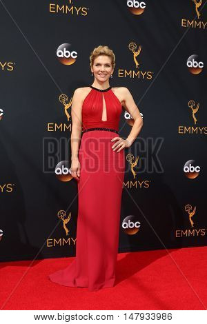 LOS ANGELES - SEP 18:  Rhea Seehorn at the 2016 Primetime Emmy Awards - Arrivals at the Microsoft Theater on September 18, 2016 in Los Angeles, CA