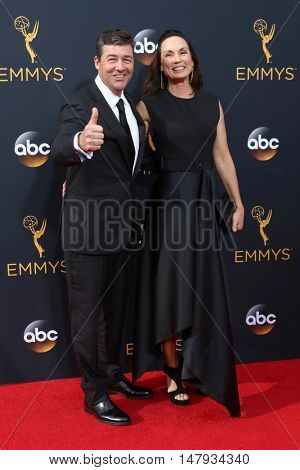 LOS ANGELES - SEP 18:  Kyle Chandler, guest at the 2016 Primetime Emmy Awards - Arrivals at the Microsoft Theater on September 18, 2016 in Los Angeles, CA