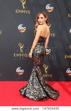 LOS ANGELES - SEP 18:  Lilliana Vasquez at the 2016 Primetime Emmy Awards - Arrivals at the Microsoft Theater on September 18, 2016 in Los Angeles, CA