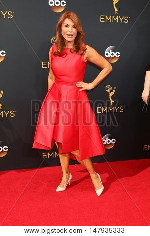 LOS ANGELES - SEP 18:  Roma Downey at the 2016 Primetime Emmy Awards - Arrivals at the Microsoft Theater on September 18, 2016 in Los Angeles, CA