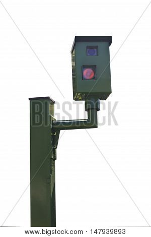 Radar Trap isolated on white Background - outdoor
