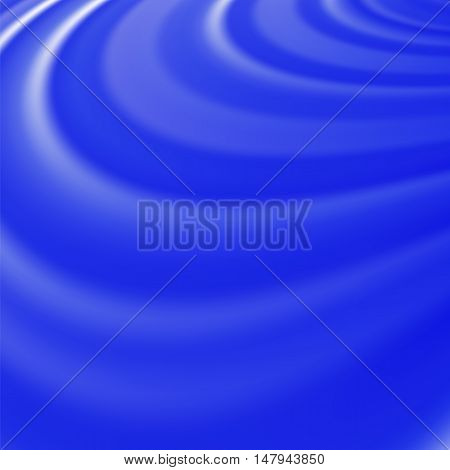 Abstract Glowing Blue Waves. Smooth Swirl Light Background