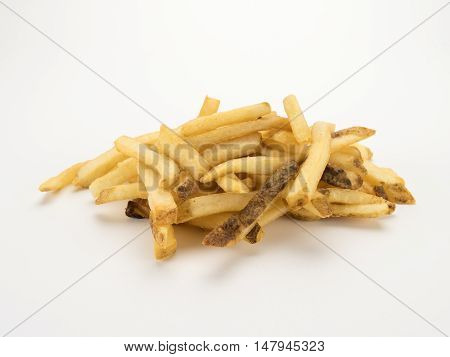 French Fries on White Background Isolated Image