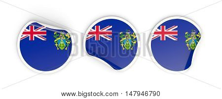 Flag Of Pitcairn Islands, Round Labels