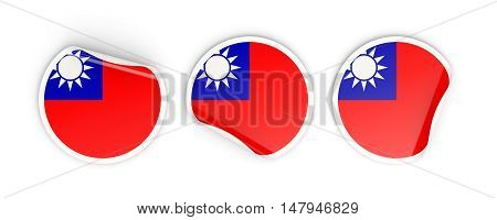 Flag Of Republic Of China, Round Labels