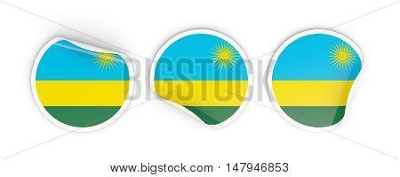 Flag Of Rwanda, Round Labels