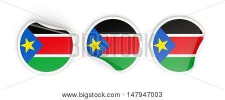 Flag Of South Sudan, Round Labels