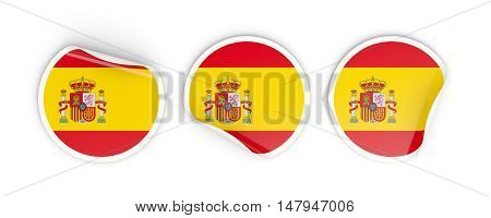 Flag Of Spain, Round Labels