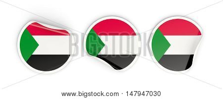 Flag Of Sudan, Round Labels