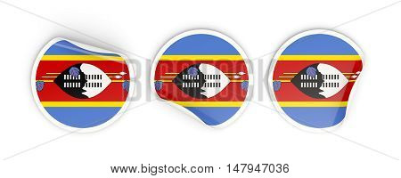 Flag Of Swaziland, Round Labels