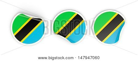 Flag Of Tanzania, Round Labels