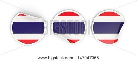 Flag Of Thailand, Round Labels