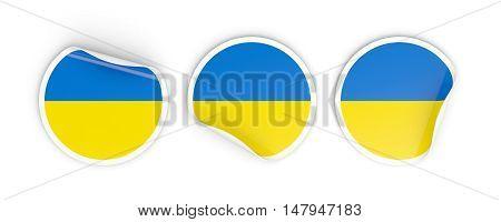 Flag Of Ukraine, Round Labels