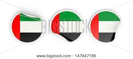 Flag Of United Arab Emirates, Round Labels