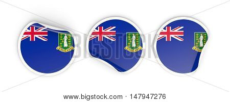 Flag Of Virgin Islands British, Round Labels