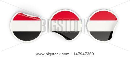 Flag Of Yemen, Round Labels