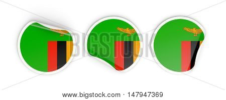 Flag Of Zambia, Round Labels