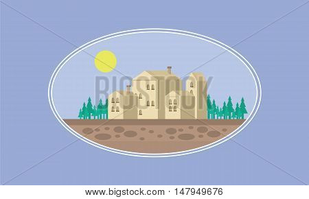 House game background illustration vector art of silhouette